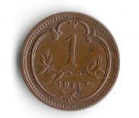 1 Haléř(1911-ražba bz), stav 0/0