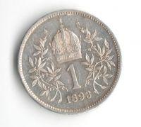 1 Koruna(1893-ražba bz), stav 0/1+ hr.