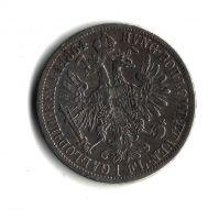 1 Zlatník/Gulden (1864-ražba A), stav 2/1-