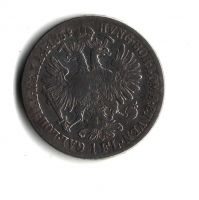 1 Zlatník/Gulden (1864-ražba B), stav 2-/2-