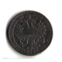 1 Zlatník/Gulden (1865-ražba A), stav 2/2+
