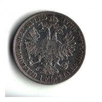 1 Zlatník/Gulden (1866-ražba B), stav 1-/1- hr.