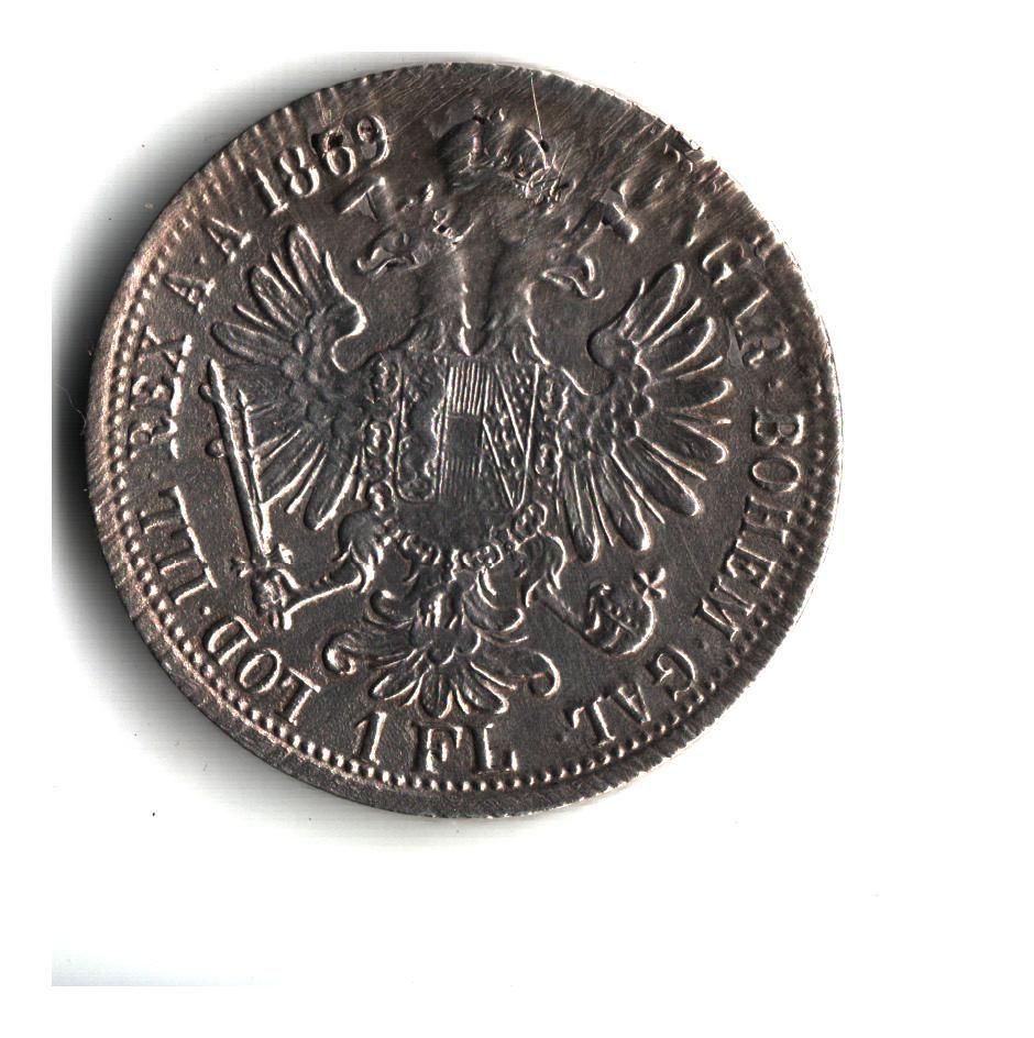1 Zlatník/Gulden (1869-ražba A), stav 1-/1- hr.