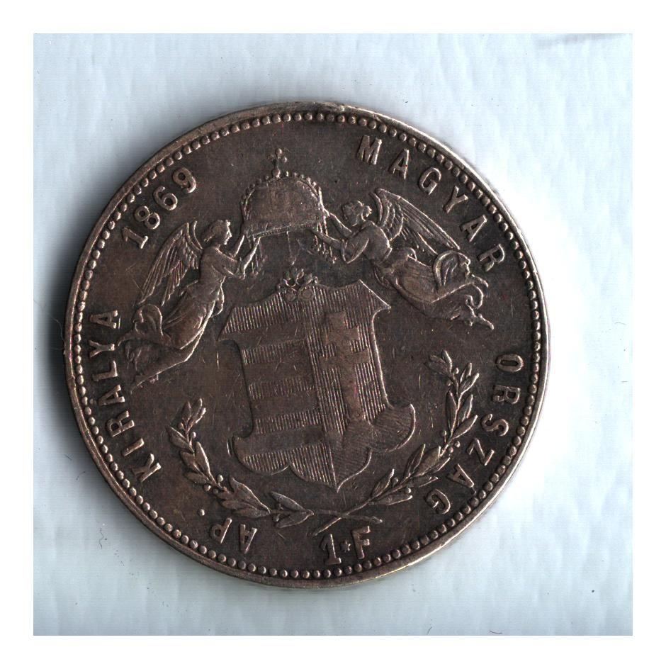 1 Zlatník/Gulden (1869-ražba GYF), stav 1/1 dr.hr.