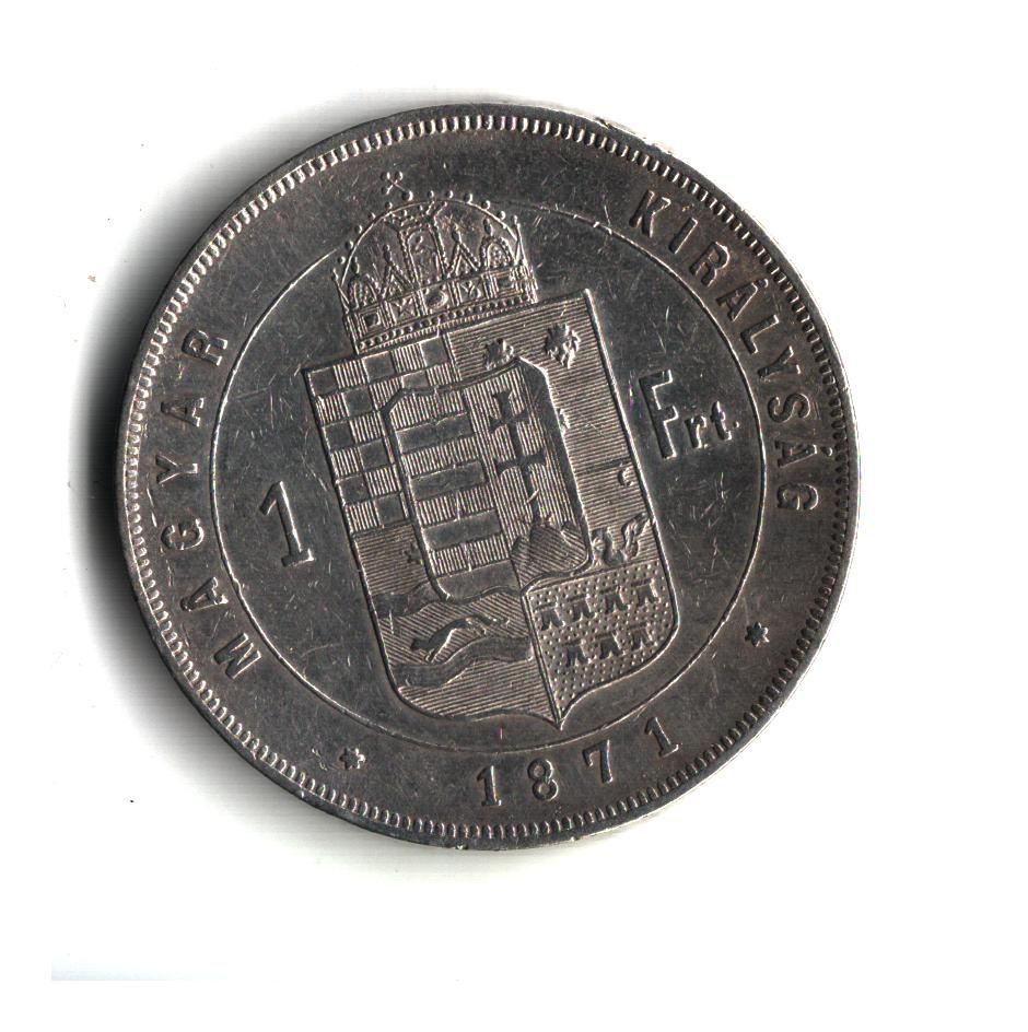 1 Zlatník/Gulden (1871-ražba KB), stav 1/1 hr.