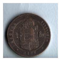 1 Zlatník/Gulden (1877-ražba KB), stav 2-/2-