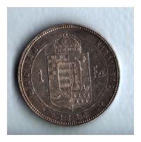 1 Zlatník/Gulden (1880-ražba KB), stav 1+/1+ patina, dr.hr.