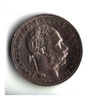 1 Zlatník/Gulden (1883-ražba KB), stav 1+/1+