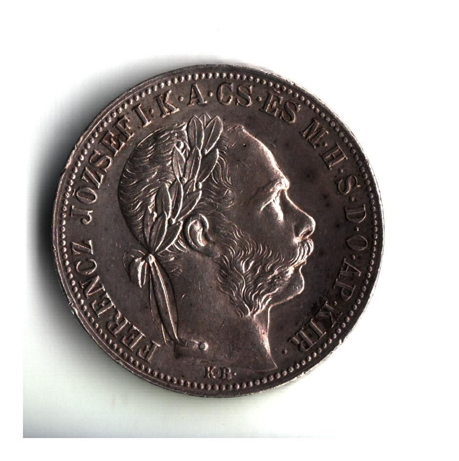 1 Zlatník/Gulden (1882-ražba KB), stav 1+/1+