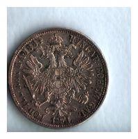 1 Zlatník/Gulden (1884-ražba bz), stav 0/1+ patina
