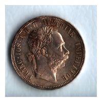1 Zlatník/Gulden (1885-ražba bz), stav 0/1+ patina