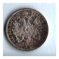 1 Zlatník/Gulden (1886-ražba bz), stav 0/1+ patina, dr.hr.