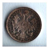 1 Zlatník/Gulden (1887-ražba bz), stav 0/1+ patina