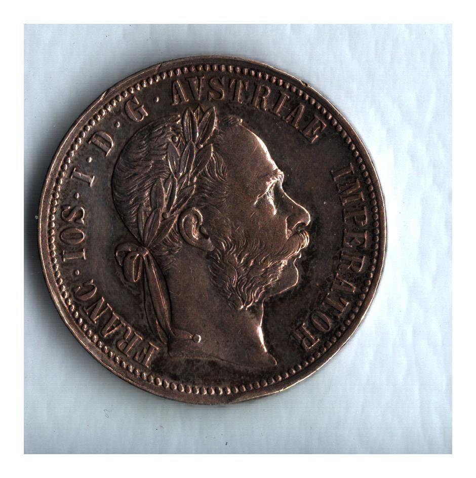 1 Zlatník/Gulden (1888-ražba bz), stav 0/1+ patina, hr.