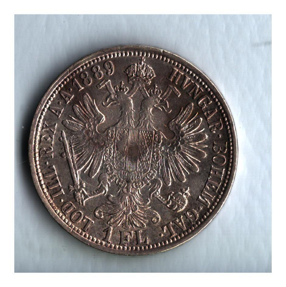 1 Zlatník/Gulden (1889-ražba bz), stav 0/1+ patina, dr.hr.