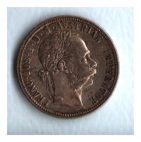 1 Zlatník/Gulden (1890-ražba bz), stav 0/1+ patina