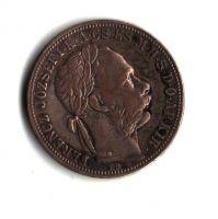 1 Zlatník/Gulden (1890-ražba KB), stav 0/0 patina, hr.
