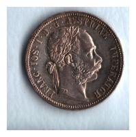 1 Zlatník/Gulden (1891-ražba bz), stav 0/1+ patina, hr.