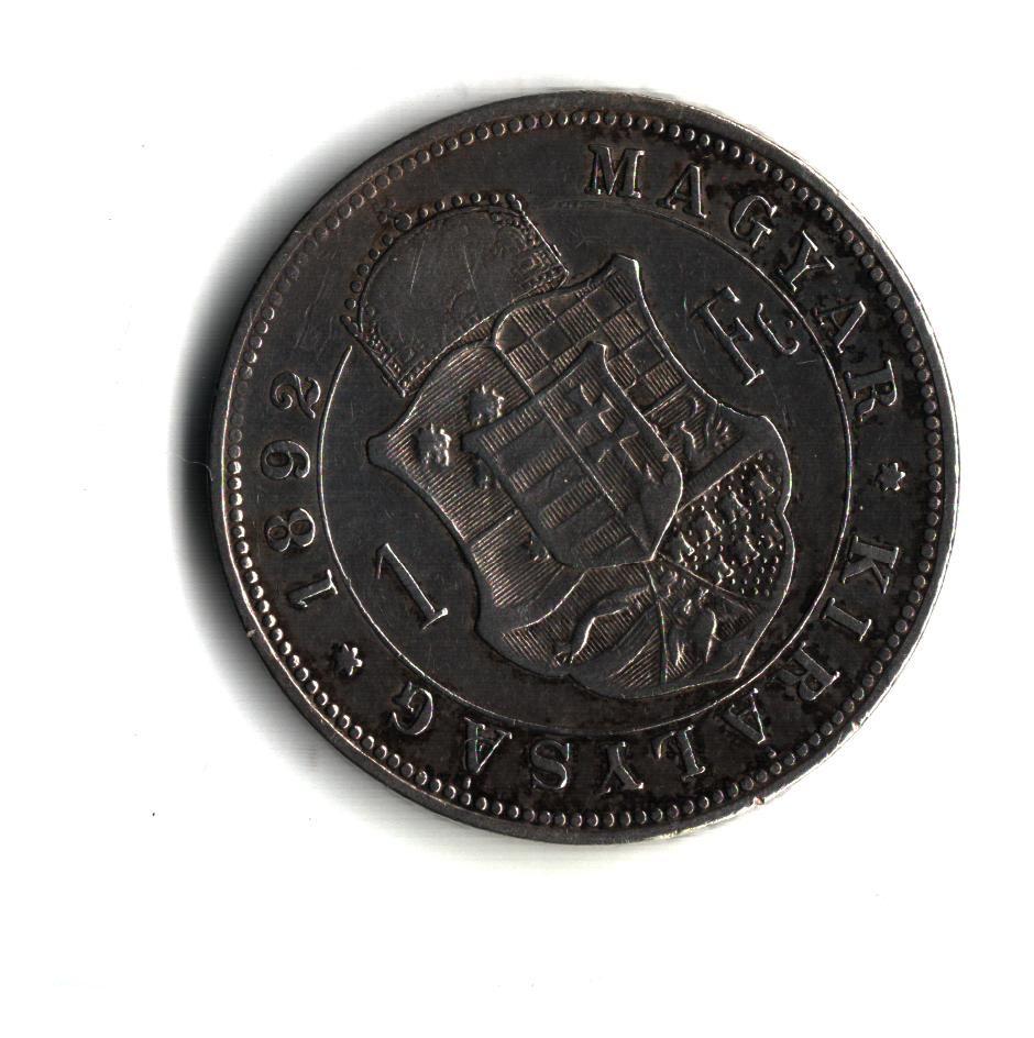 1 Zlatník/Gulden (1892-ražba KB), stav 1/1, hr.