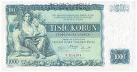 1000Kč/1934/, stav UNC perf. SPECIMEN, série F