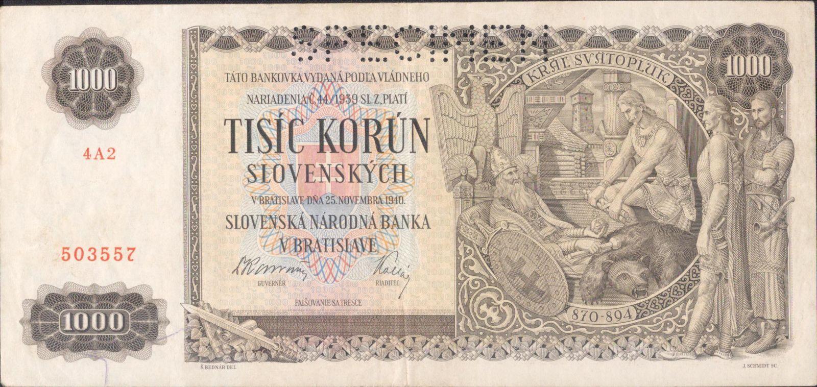 1000Ks/1940/, stav 1 perf. SPECIMEN, série 4A2