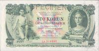 100Kč/1931/, stav UNC perf. SPECIMEN, série Lb