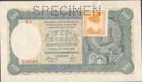 100Ks/1940-kolek ČSR/, stav 0 perf. SPECIMEN, série K 3 - II.vydání