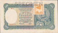 100Ks/1940-kolek ČSR/, stav UNC perf. SPECIMEN nahoře, série M 1 - II.vydání