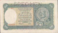100Ks/1940/, stav 2 perf. SPECIMEN nahoře, série A 5 - II.vydání