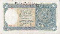 100Ks/1940/, stav 2+ perf. SPECIMEN nahoře, série M 3 - I.vydání