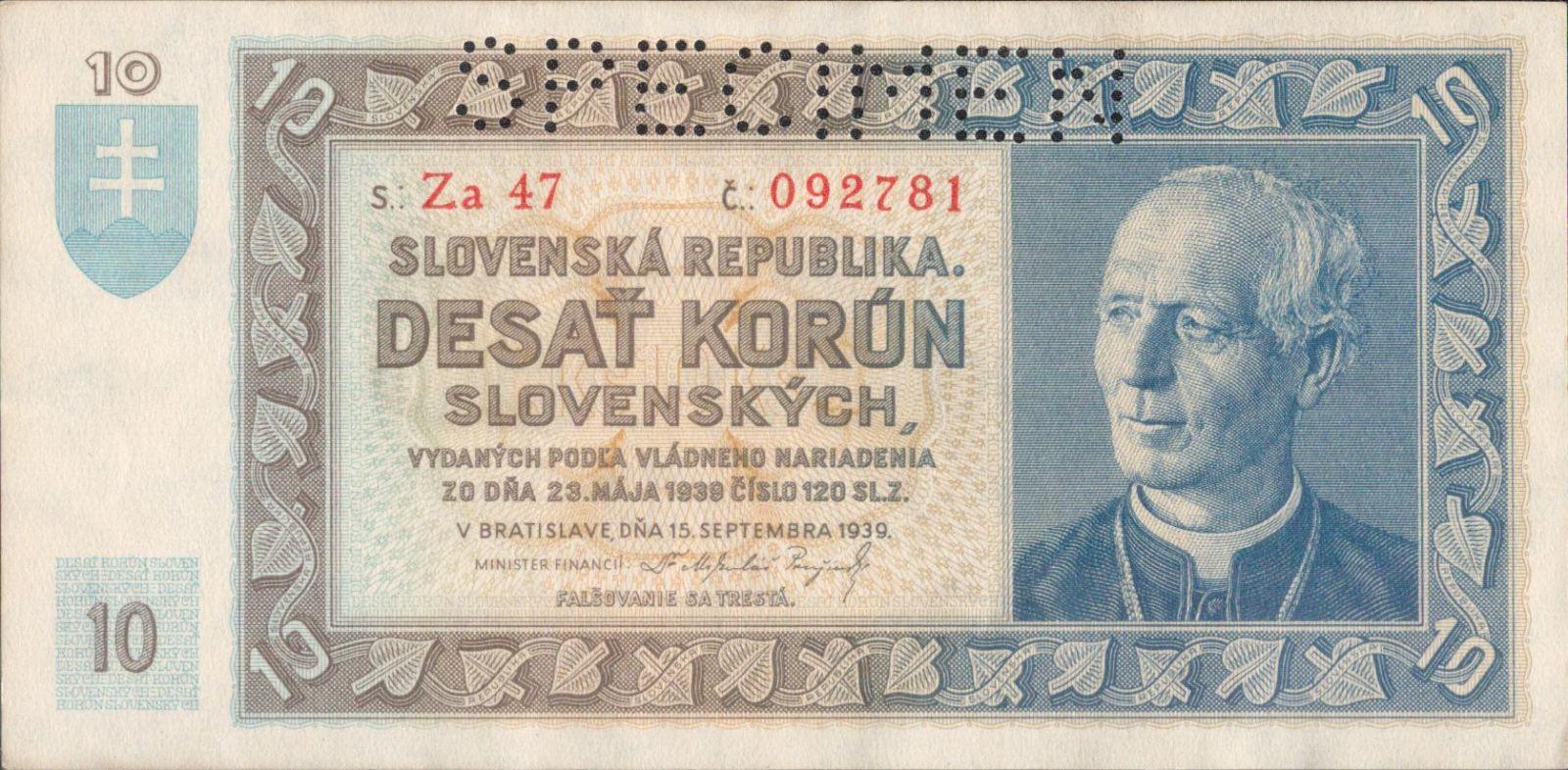 10Ks/1939/, stav 0 perf. SPECIMEN, série Za 47