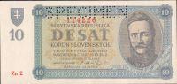 10Ks/1943/, stav UNC perf. SPECIMEN, série Zo 2