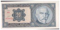 20Kč/1926/, stav UNC perf. SPECIMEN, série Ze