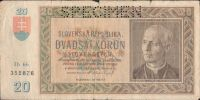 20Ks/1939/, stav 4 perf. SPECIMEN nahoře, série Ih 66