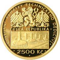 2500 Kč(2008-pivovar v Plzni, Au 999, 7,78g), stav PROOF, certifikát, etue