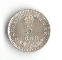 5 Krejcar(1858-ražba A), stav 0/0