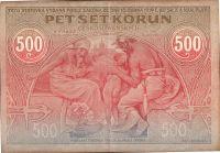 500Kč/1919/, stav 2+, ORIGINÁL druhé nejvzácnější státovky/bankovky Československa