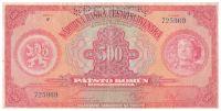 500Kč/1929/, stav 3 perf. SPECIMEN, série F