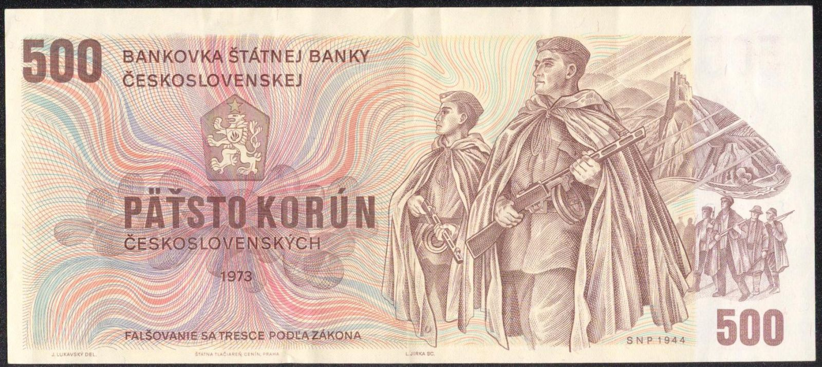 500Kčs/1973/, stav 2, série U