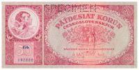 50Kč/1929/, stav UNC perf. SPECIMEN, série Gb