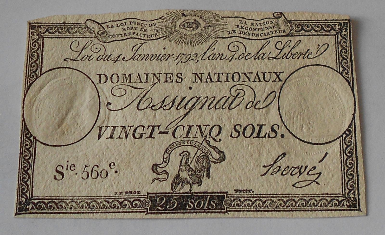 Francie 25 Sols 1792