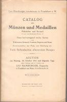 Katalog aukce mincí z roku 1911 v Frankfurtu nad Mohanem
