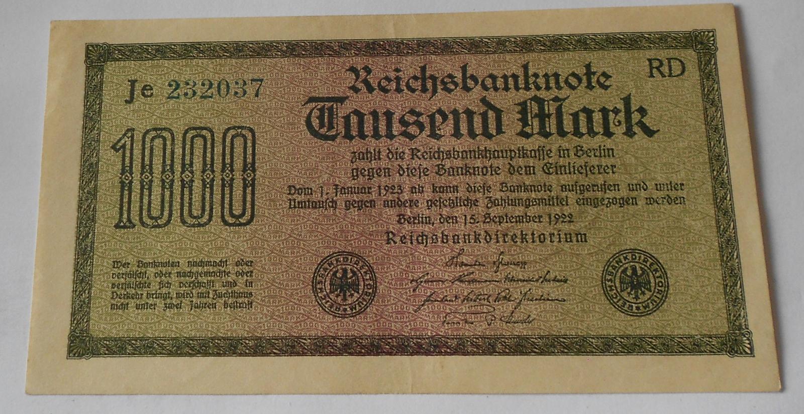Německo 1000 Marek 1922
