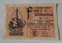 Německo – Augsburg 5 mld. Marek 1923