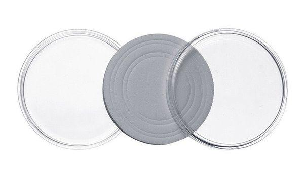 Plastová kapsle na minci 17-30mm s upravitelnou vložkou, průměr 30mm