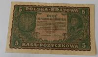 Polsko 5 Marek polských 1919