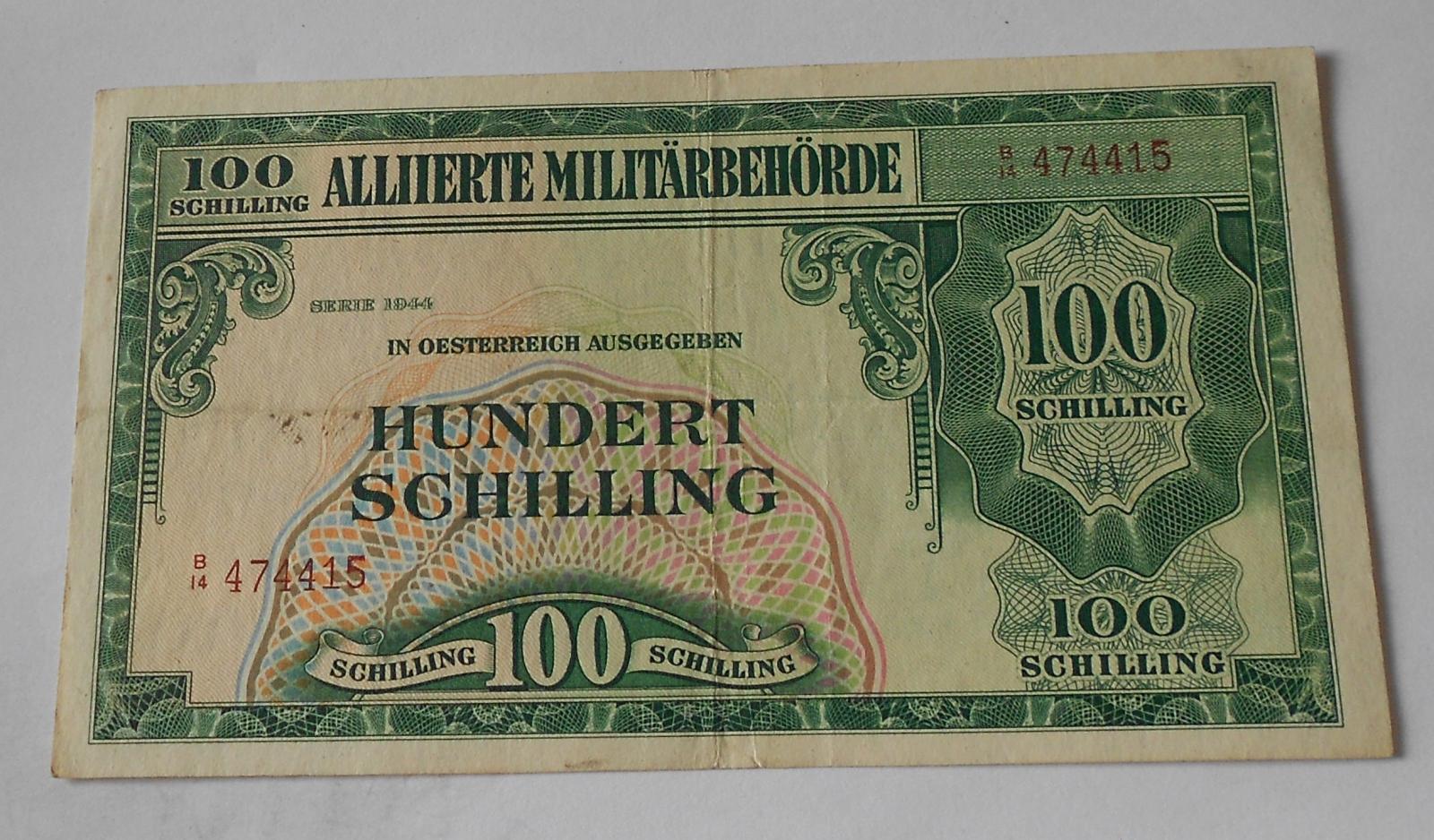 Rakousko 100 Schilling 1944 Vojenská poukázka