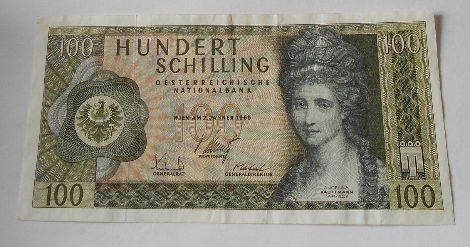Rakousko 100 Schilling 1969