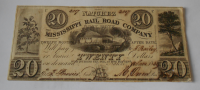USA 20 Dolar 1839 Missisipi