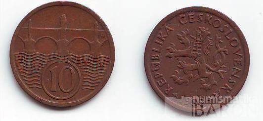 10 Haléř(1933), stav 1+/1